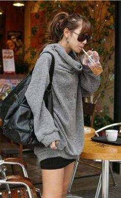 Amazon.co.jp: (フルールドリス)Fluer de lis グレー首元ゆったり 大きめ タートルネック パーカー カーディガン カーデ ジャケット カジュアル アパレル レディース ファッション 服 6532: 服&ファッション小物