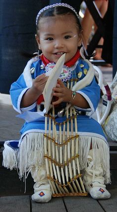 adorable smiles from a Native American Baby Girl  by Irina ArchAngelSkaya