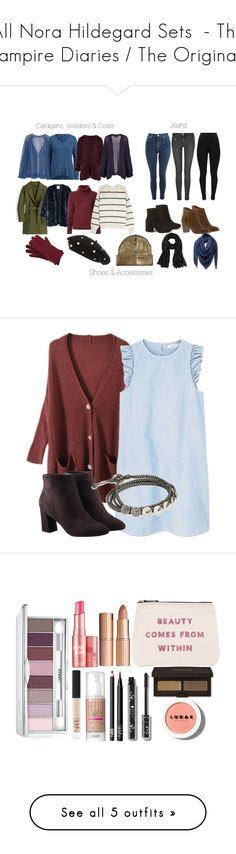 """""""All Nora Hildegard Sets  - The Vampire Diaries / The Originals"""" by fangsandfashion ❤ liked on Polyvore featuring MANGO, Polo Ralph Lauren, Boohoo, Topshop, BLK DNM, J.Crew, BY. Bonnie Young, Étoile Isabel Marant, Hollister Co. and Dolce Vita"""