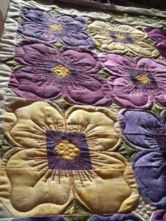 Sew-n-Sew Quilting: Pansy Quilting....