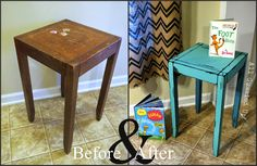 Seuss Illustrations Inspired Night Stand and Table - Hand Painted Chalk Paint - Uniquely Grace Designs Dr. Painted Chairs, Painted Furniture, Refinished Furniture, Dr Seuss Nursery, Dr Seuss Mural, Diy Nightstand, Diy Bed, Find Furniture, Room Paint