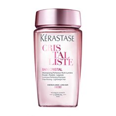 Kerastase Cristalliste BAIN CRISTAL FINE (Silicone-free shampoo for shine and movement for long, fine hair) Damp Hair Styles, Long Hair Styles, Shampoo For Fine Hair, Hair Balm, Best Shampoos, L'oréal Paris, Healthy Hair, Thick Hair, Healthy Hair Tips