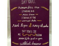 WIldest Dreams Taylor Swift Lyrics Canvas 1989