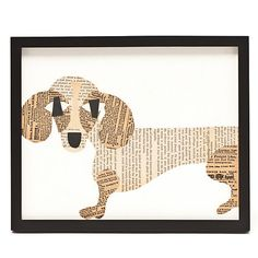 Paste Framed Dachshund Collage, from Gumps!