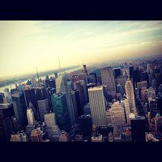 "@ianbanks56's photo: ""Shot from the city up above. #nyc #newyork #newyorkcity #manhattan #empire #empirestatebuilding #skyline #skyscrapers"""