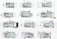 KZ Sportsmen Classic travel trailer floorplans | CAMPER | Trailer build, Small floor plans