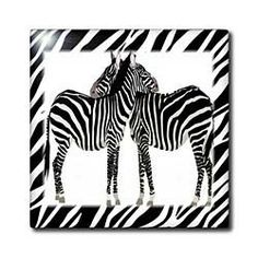 "2 Zebras Hug With Zebra Frame - 12 Inch Ceramic Tile by Florene. $22.99. High gloss finish. Clean with mild detergent. Construction grade. Floor installation not recommended.. Image applied to the top surface. Dimensions: 12"" H x 12"" W x 1/4"" D. 2 Zebras Hug With Zebra Frame Tile is great for a backsplash, countertop or as an accent. This commercial quality construction grade tile has a high gloss finish. The image is applied to the top surface and can be clea..."
