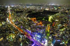Tokyo From Roppongi at Night by The Devil in the Detail, via Flickr