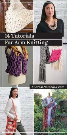 14 Beautiful Arm Knitting Tutorials
