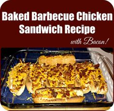 These Baked Barbecue chicken Sandwiches are quick, easy, and perfect for a chilly day. Not to mention they were absolutely delicious.. we devoured them instantly. The best part is it only requires 5 ingredients and you can shake up the recipe however you want. If you don't have any leftover chicken you can easily throw some into a crock pot for the day and dinner will only take you about 15 minutes tops. How great is that? All baked in our Personalized Glass Baking Dish! Enjoy!