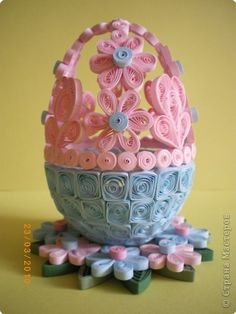 Здравствуйте, всем! Успела сделать вот такое яйцо. Вдохновили работы мастериц.Узор создавала по ходу работы.Мне нравится. А Вам? фото 1