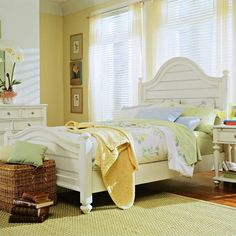 Lowest price online on all American Drew Camden Panel Bed in Buttermilk Finish - 920-31XR