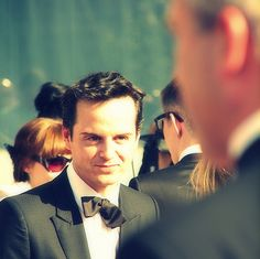 Love how he felt embarrassed that he wasn't wearing a bow tie and made his tie into one (: