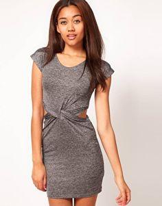 River Island Twist Waist Jersey Dress