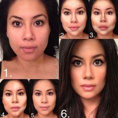 Countour como afinar un rostro redondo con tu maquillaje
