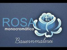 Rosa monocromática em Bauernmalerei - YouTube
