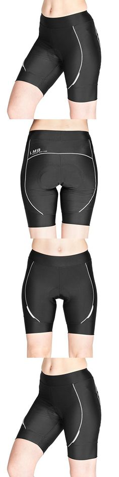 Lameda Women's Bike Shorts 3D Padded Summer Lightweight Cycling Bicycle Compression Half Tights (L, Black)