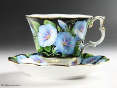 Royal Albert Morning Glory ((Flora series) cup and saucer