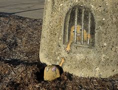 funny street art by david zinn More