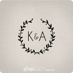 Rustic monogram  printable monogram  DIY wedding by KaspiCrafts, $8.00