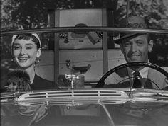 From 'Sabrina'-Audrey Hepburn and William Holden