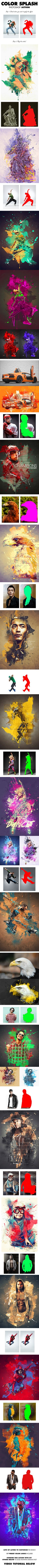 Color Splash Photoshop Action - Photo Effects Actions