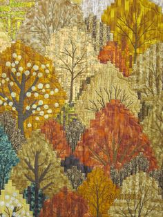 autumn trees......this is a quilt!!! Tokyo quilt festival 2012