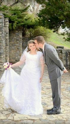 My LDS wedding! My modest wedding dress