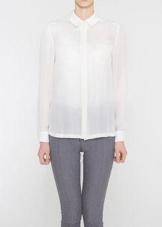 43803b43c27 BARRETT Dress Down Shirt Top Blanc and Eclare