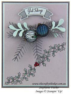 Stampin Up, Christmas Card, Xmas Card, Holly Berry Happiness, Jar of Cheer