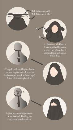 Tutorial French Khimar Hijab hijab in french Turban Hijab, Hijab Niqab, Muslim Hijab, Muslim Dress, Hijab Chic, Mode Hijab, Islam Muslim, Niqab Fashion, Muslim Fashion