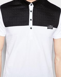 Image 3 ofJack & Jones Polo Shirt with Quilted Contrast Yoke