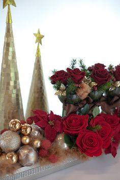 お台場グランパシフィッククリスマスコンセプトルーム HANA ~花~クリスマスをイメージしたお花プリザーブドフラワー)作品リース、アレンジ、クリスマスケーキ、…