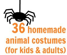 Leuke patronen voor Halloween, of St. A list of 36 handmade animal costumes for kids and adults! Halloween Fonts, Homemade Halloween Costumes, Holidays Halloween, Halloween Themes, Fall Halloween, Halloween Crafts, Halloween Party, Easy Costumes, Costume Ideas