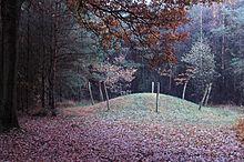 Dit is een afbeelding van een grafheuvel. Finn en Tara hebben elkaar ontmoet op de top van zo een heuvel. Ze komen er vaak samen om te genieten van de kalmte en omgeving. De grafheuvel is een belangrijke plaats in het verhaal