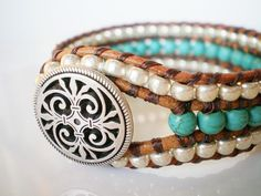 Turquoise and Pearls... YEP!!!
