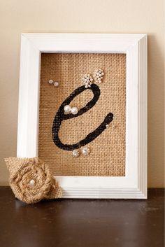 Personalized Bridesmaid Gift, White Stud Earring Holder, Burlap Flower White Frame Earring organizer, Jewelry organizer, Earring Display