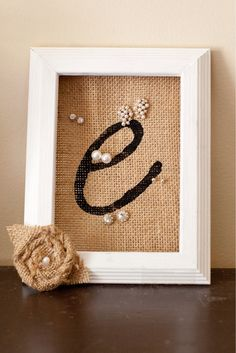 Personalized Bridesmaid Gift, White Stud Earring Holder, Burlap Flower White Frame Earring organizer, Jewelry organizer, Earring Display