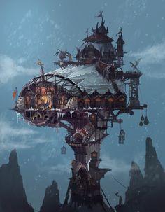 ArtStation - Orc fortress, Eunsu Kang