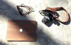 Walnut. Natural wooden cover for Mac.
