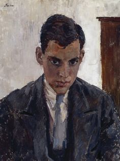 Augustus John, R.A. 1878 - 1961. Portrait of a Young Man, ca. 1928, Oil on…
