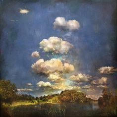 """Stev'nn Hall, Tomorrow Never Knows No. 3 ,  Photography, oil, ink, pastel on birch, 42"""" x 42""""  www.musegallery.ca"""