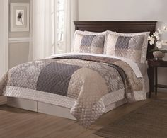 Opentip.com: PEM America QS9095QN-2320 Wyndham Full / Queen Quilt and Shams