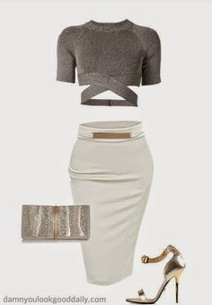 Damn You Look Good Daily A fashion and style blog: Kim Kardashian Style Club Outfit Idea
