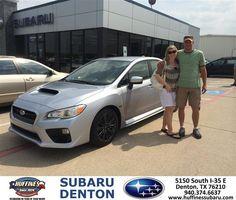 #HappyAnniversary to Jeff Atwood on your 2015 #Subaru #WRX from Everyone at Huffines Subaru Denton!