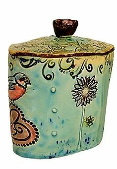 Ceramic Pottery, Ceramic Art, Ceramic Boxes, Momma Bear, Inca, Surface Pattern, Carving, Clay, Texture
