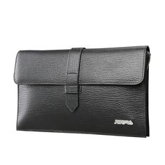 d0e1a6158363 JD-JETRS Men s leather envelope clutch leather folder holding  large-capacity commercial trend wrist bag