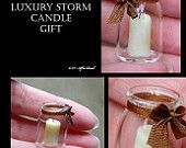 Glass Storm Candle Gift - Artisan fully Handmade Miniature in 12th scale. From After Dark miniatures.