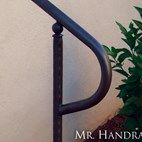(CU-14) - Round Handrail with Art Deco Post Top