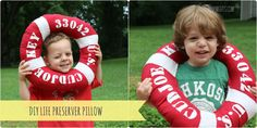 DIY Life Preserver Pillow {Nautical Boys' Bedroom}